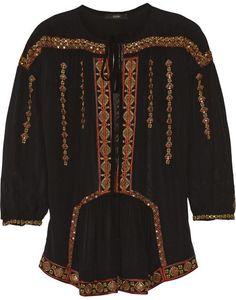 Etro Embellished silk-chiffon blouse on shopstyle.com