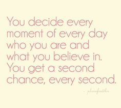 there's always time for a second chance