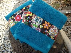 Day of the Dead Hand towels Sugar Skulls by BitchinBagsbyBenita, $24.00