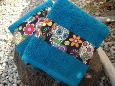 Day of the Dead Hand towels Sugar Skulls by BitchinBagsbyBenita, $24.00