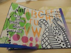 Dyan Reaveley tag art | Bolton House: Day 2 with Dina Wakley::Class #2
