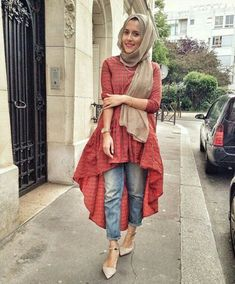 Fashion Hijab Outfits Casual Muslim For 2019 Hijab Outfit, Hijab Dress, Islamic Fashion, Muslim Fashion, Modest Fashion, Hijab Fashion Casual, Hijab Casual, Dress Fashion, Modest Wear