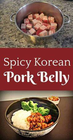 This recipe for Spicy Korean pork knocked my socks off! It burns in all the right ways, and the fatty pork belly will just melt in your mouth! A perfect combination. food This Spicy Korean Pork Belly Will Simply Melt In Your Mouth! Korean Pork Belly, Spicy Korean Pork, Korean Chicken, Easy Korean Recipes, Asian Recipes, Hawaiian Recipes, Asian Pork Belly Recipes, Asian Foods, Pork Recipes