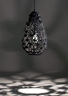 Sarah Parkes, an Australian designer who works with macrame under her label Smalltown, Knotted Egg Lamp Light Luz, Lamp Light, Light Fixture, Magic Light, Modern Lighting, Lighting Design, Dramatic Lighting, Lighting Ideas, Diy Lampe