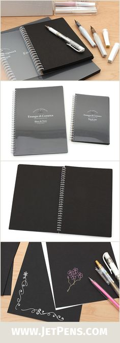 Pair the new Etranger di Costarica Blanc de Noirs Notebooks with opaque white or pastel inks for a striking effect! The paper is great for cards, letters, scrapbook pages, and more!