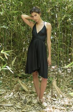 DAPHNE multiposition dress Silk dress Suite 13 collection Conscious design Sustainable fashion Made in Barcelona