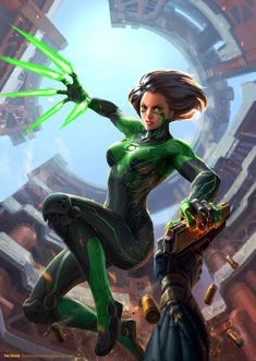 Green lantern+Battle angel Alita, for gameartisans' Comicon Challenge 2015. www.gameartisans.org/challenge… process www.gameartisans.org/forums/th…