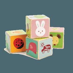 Cubes bois animaux