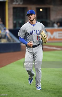 Kris Bryant #17 of the Chicago Cubs warms up before a baseball game against the San Diego Padres at PETCO Park on August 22, 2016 in San Diego, California.