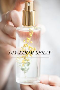 we're true fans of alyssa hoppe over here and all of the projects she creates for us (hanging planters and this holiday wreath). and today's post is no exception, these room sprays are seriously beaut