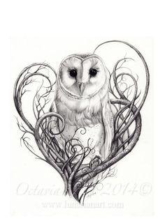 Resultado de imagem para owl tattoo