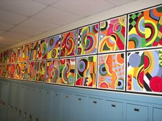 Abstract non-objective -- Robert Delaunay This makes a great collaborative looking display.