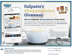 Italpasta's for Pasta Lovers Giveaway