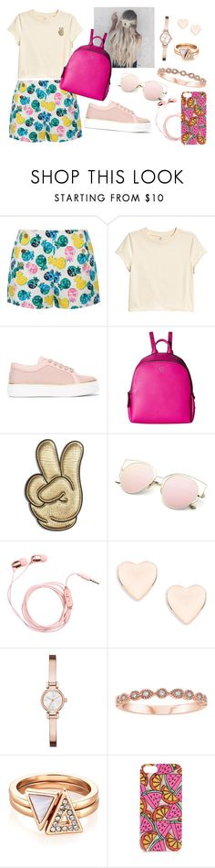 """outfit de verano"" by aletraghetti on Polyvore featuring moda, Draper James, MaxMara, MCM, Anya Hindmarch, Ted Baker, DKNY y Topshop"