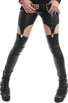 Vixxsin PVC Suspender Leggings, £25.99