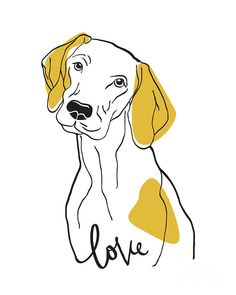 Dog Drawing - Dog Modern Line Art by Donika Nikova Dog Line Drawing, Dog Line Art, Dog Art, Abstract Line Art, Abstract Drawings, Art Drawings, Line Art Projects, Line Art Flowers, Line Art Vector