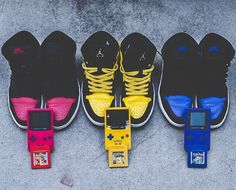 Shared by dro.sphynx #gameboy #microhobbit (o) http://ift.tt/1RExXCo's Nostalgia #Dunks #Nike #Fire #Electricity #Water #pikachu #Pokemon #20Yrs #modernotoriety #Gameboy #Color