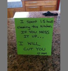 I should do this at my house! I HATE coming home to a dirty house :-(