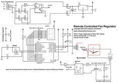 remote controlled fan regulator schematic