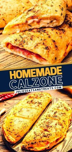 Planning on having regular pizza? Switch things up and try this easy Calzone Recipe instead! Baked in a golden crust with melted cheese, meat, and sauce, this kid-friendly meal is a fun way to end the week. Make this hearty, filling, delicious dinner for your family! Yummy Recipes, Dinner Recipes, Dessert Recipes, Yummy Food, Desserts, Homemade Calzone, Calzone Recipe, How To Cook Sausage, How To Cook Chicken