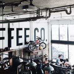 #coffee #motorcycle interior two-stroke coffee co. discover #motomood