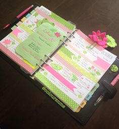 Coloursnme: Lotus and Frog inspired upcoming week in my Filofax Apex Personal Green and Filofax A5 Chameleon Black