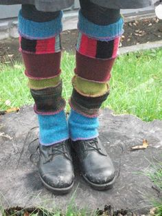 sweater scrap legwarmers