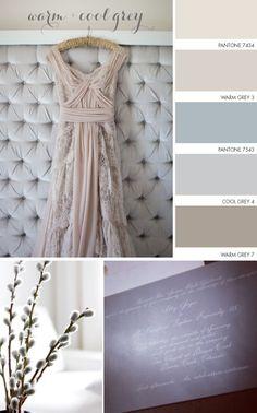 Warm + Cool Grey Color Palette. Bedroom