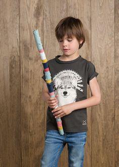 Wolf print t-shirt #MANGOKids #FW14 #Kids
