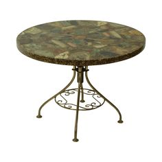 Inez: Inez is a vintage handmade side table made of resin and precious stones with a brass base. Sundrop Vintage Rentals/ Rent Vintage Furniture in California for Weddings/ Parties/ Events/ Photo shoot/ Bridal Shower/ Sofa /Settee/ Vintage/ Boho/ Baby Shower/ Rentals