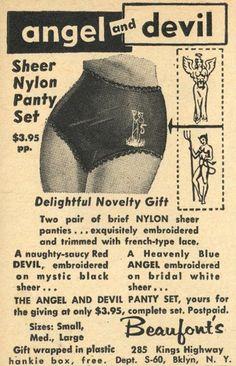 we're a little of both. #Vintage lingerie ad