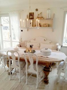 Shabby Chic Decor rustic and nice plan - Incredibly sensational notes. shabby chic inspiration home decor ingenious image reference generated on this day 20181220 , Cottage Dining Rooms, Shabby Chic Dining Room, Shabby Chic Kitchen, Shabby Chic Cottage, Shabby Chic Homes, Shabby Chic Furniture, Dining Room Table, Wood Table, Table Legs