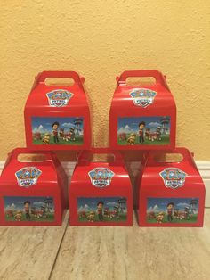 Paw Patrol Favor Boxes 12 by FantastikCreations on Etsy