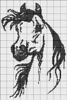 How to make a horse Crochet Pattern - Crochet Loves Graph Crochet, Stitch Crochet, Filet Crochet Charts, Knitting Charts, Crochet Patterns, Cross Stitch Horse, Cross Stitch Animals, Cross Stitch Charts, Cross Stitch Patterns