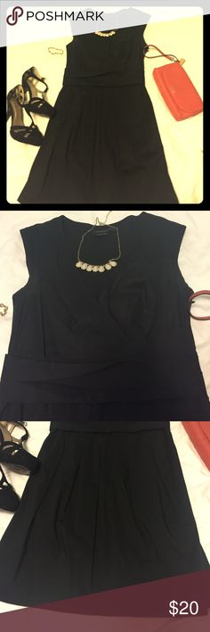 BCBG Vneck little black dress V neck top, pleated skirt and horizontal pleating at waistline. Needs to be ironed, but this is a classic dress that can be worn over & over with different accessories! BCBGeneration Dresses Mini