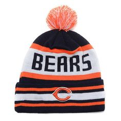 Chicago Bears Winter Outdoor Sports Warm Knit Beanie Hat Pom Pom Chicago  Bears Shoes a237ab64150d
