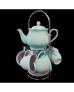 f45e273038eaf Decoração e Presentes Criativos - Jogo de Chá Wonderland Azul 14 Peças  209