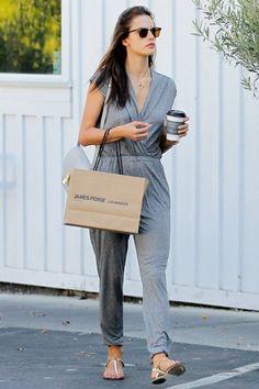 Alessandra Ambrosio.. Ray-Ban Rb3016 Sunglasses, Ripley Rader Jumpsuit, and Celine Python Box Bag..