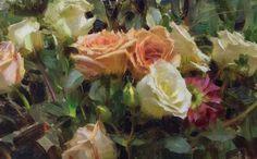 Daniel Keys, Daniel J, Art Tutor, Keys Art, Rose Paintings, Floral Paintings, Acrylic Paintings, Oil Portrait, Orange Roses
