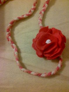 Pink Cord Fabric Rose