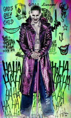 Joker Tattos by Bryanzap. on Shop /category/harley Quinn/ at GEEKOJI. Joker Batman, Comic Del Joker, Joker Y Harley Quinn, Joker Art, Joker Images, Joker Pics, Desenho Scooby Doo, Harley Quenn, Marshmello Wallpapers