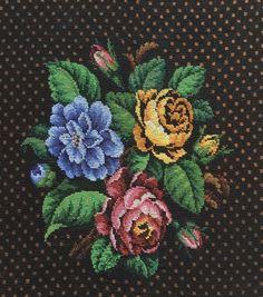 Diy And Crafts, Cross Stitch, Rugs, Painting, Art, Punto De Cruz, Dots, Needlepoint, Flowers