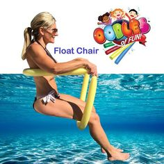 Power Lounger Floating Pool (Blue) Noodle Water Chair Comfortable and Relaxing Extra Floatation