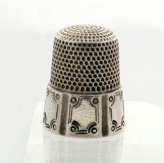 Antique Simons Sterling Silver Thimble Size 10