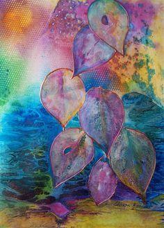 Journal d'art Québec: Appel de créations septembre 2020 Alcohol Ink Art, Art Et Illustration, Leaf Art, Art Journal Inspiration, Art Design, Altered Art, Watercolor Paintings, Watercolours, Art Projects