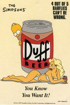 The Simpsons ~ duff beer Simpsons Party, The Simpsons, Los Simsons, Best 90s Cartoons, Duff Beer, Rick E, Beer Poster, Homer Simpson, Futurama
