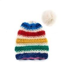 TO CELEBRATE CANADA'S 150TH YEAR in 2017, GŌBLE CREATED THE CANADIANA COLLECTION.   KNIT BEANIE CAP FOR WOMEN IN CANADIANA ARCTIC - SLOUCHY HAT  The GŌBLE women knit beanie cap is a luxurious blend of Wool, Alpaca, Silk and Mohair THIS KNIT BEANIE CAP FEATURES:   Fox Fur Snap-Off Pom Polar Fleece Lining Cozy Construction  One Size HAND KNIT IN CANADA GOBLE.CA