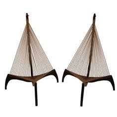 "Pair of armchairs rope ""Harp"" Jorgen Hovelskov"