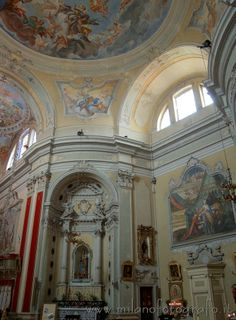Detail of the interior of the Church of the Saints Faustino and Giovita in Siviano (Monte Isola, Lake Iseo)