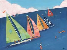 @rosenberryrooms is offering $20 OFF your purchase! Share the news and save!  Sailboat Regatta Canvas Wall Art #rosenberryrooms